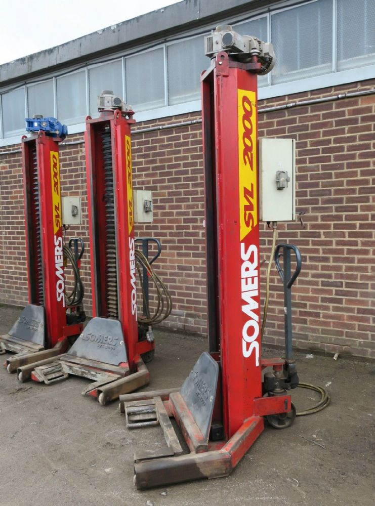 4 x Somers SVL 2000 Ton 28 Tonne set Truck Lorry Heavy Duty Mobile Column Lifts